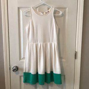 White and Teal Sundress